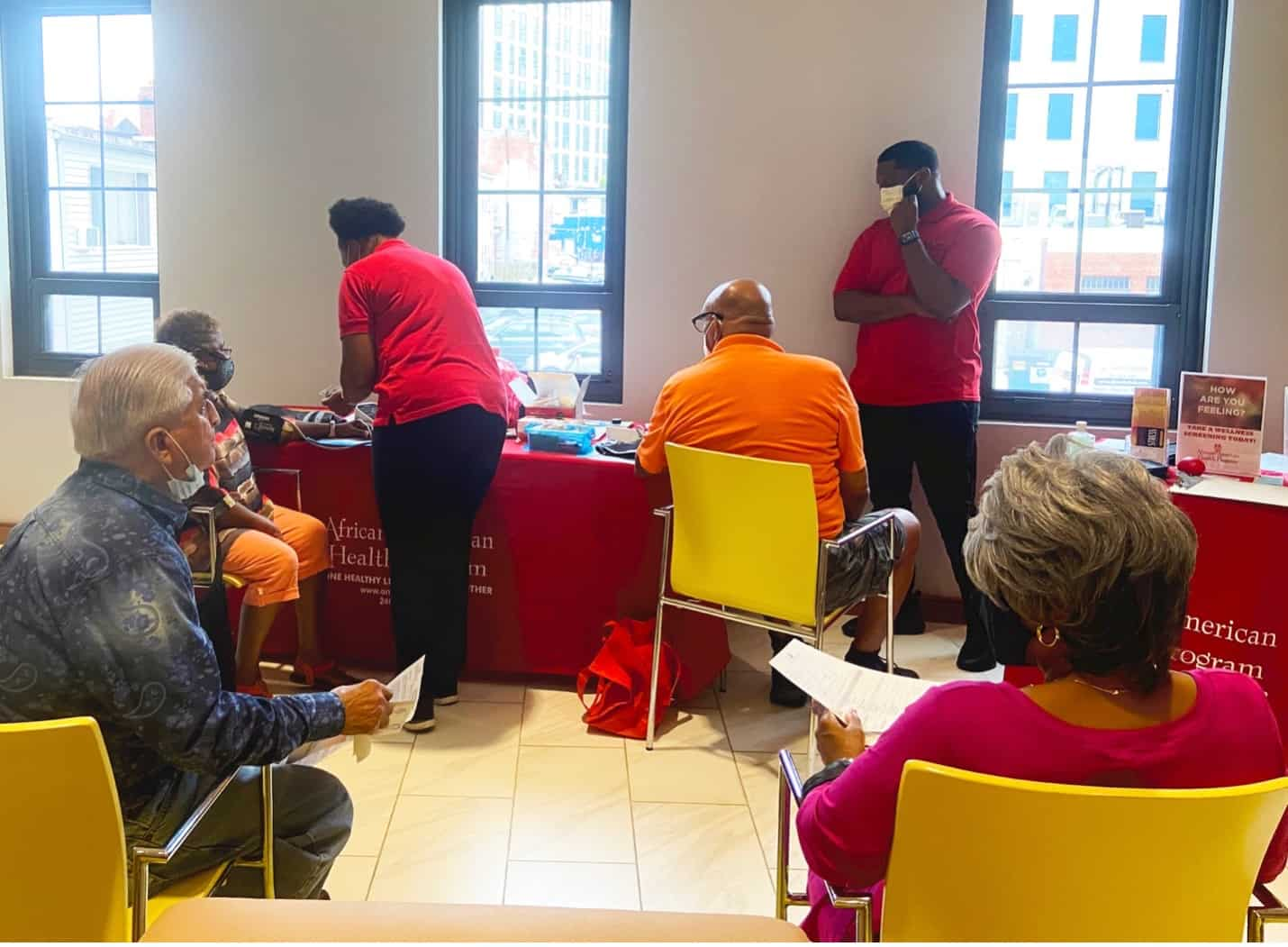 AAHP conducting health screenings at the Active Senior event at the Bonifant on August 18, 2021